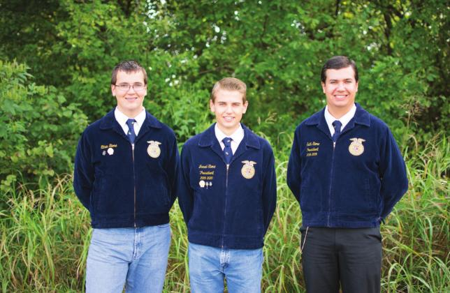 Pictured above from left to right are brothers Ethan Stone, Jared Stone and Seth Stone. Photo/Chelsea Weeks.